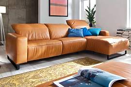 Candy Ledersofa Empire mit Longchair
