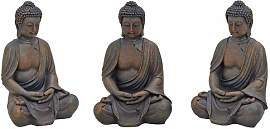 Figur School Buddha sitzend World Menagerie