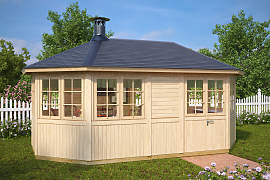 Grillpavillon Albatros XL 15 m² / 21mm / 3×5