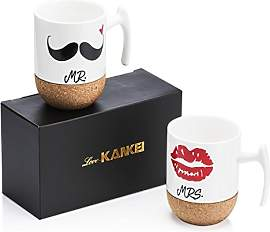 Love-KANKEI MR MRS Tassen Kaffeetassen