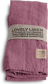 Lovely Linen Stoffserviette 4er Set - Old Rose
