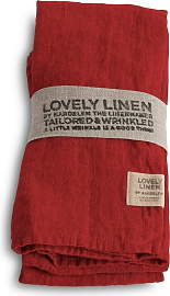 Lovely Linen Stoffserviette 4er Set - Real Red