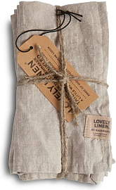 Lovely Linen Stoffserviette Misty 4er Set - Misty
