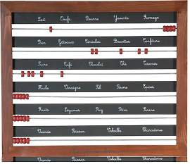 Magnetische Schreibtafel Scoring with French Words