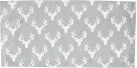 Stoffserviette White Antlers on Grey