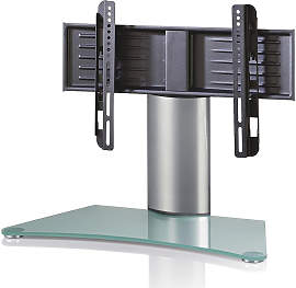 TV-RACK Metall, Glas Klar, Silberfarben