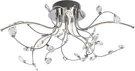 XXXLutz LED-DECKENLEUCHTE , Nickel, Transparent,